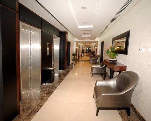 The corridor of Emirates Springs Hotel Apartments.