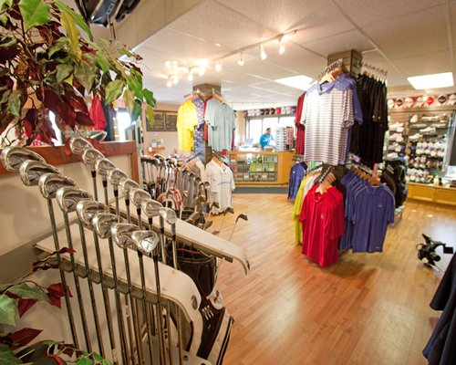 A well stocked apparel shop at Paradise Canyon Golf Resort.