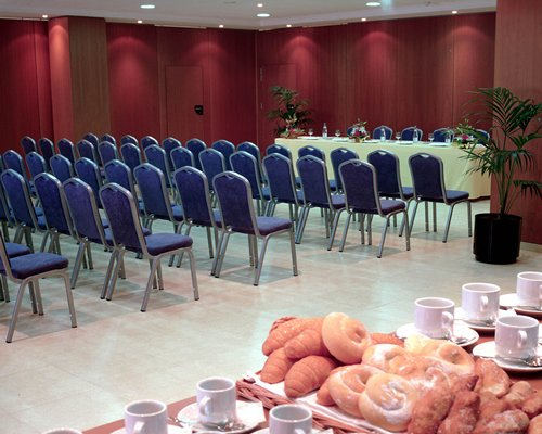 An indoor conference hall.