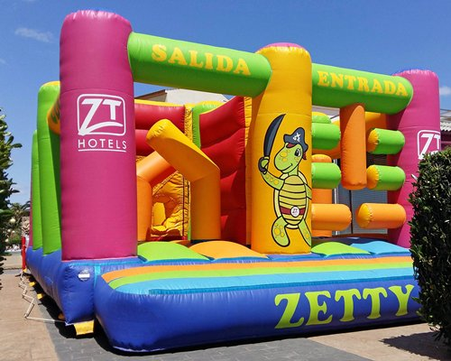 A bouncy castle.