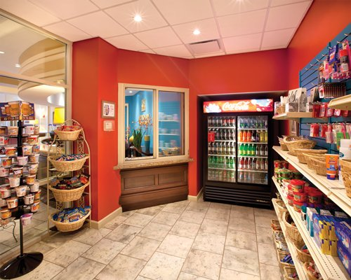 An indoor grocery store at Wyndham Old Town Alexandria resort.