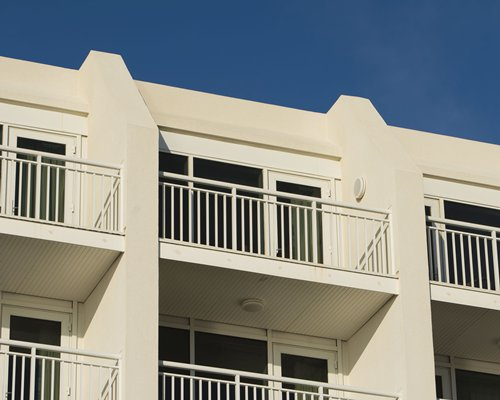Exterior view of multiple balconies at Ocean Sands.