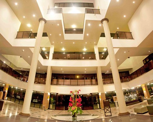 An interior view of the Marina Park Hotel resort.