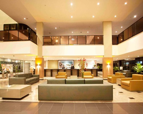 A well furnished reception area of the Marina Park Hotel with lounge access.