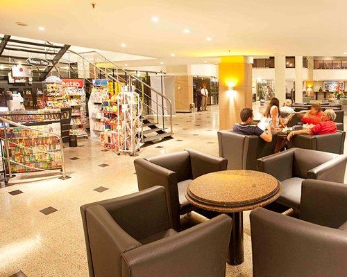 A lounge area at the Marina Park Hotel alongside the snack bar.