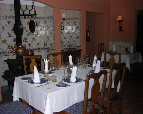 An indoor fine dining restaurant at Pestana Miramar resort.