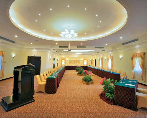 An indoor conference room at The Grand Bali  Nusa Dua resort.