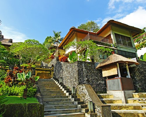 A scenic exterior view of Bali Masari Villas & Spa with staircase.