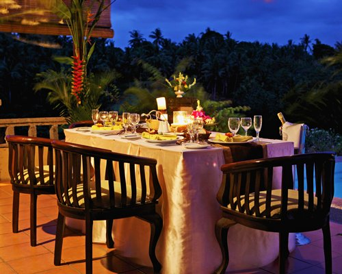 A fine dining area at the Bali Masari Villas & Spa.