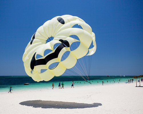 A parachute at the beach.
