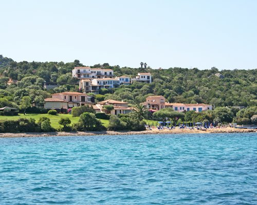 A view of the Domina Home Palumbalza resort from the waterfront.