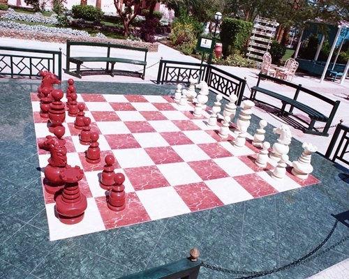 An outdoor giant chess.