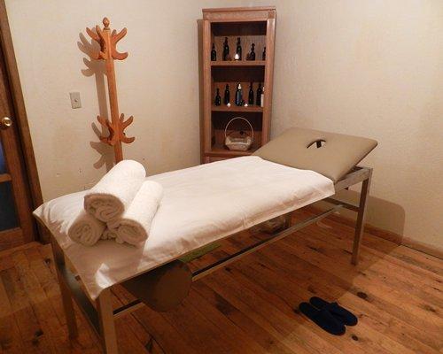 An indoor spa room at the Sierra Paraiso Hotel Y Centro De Convenciones resort.