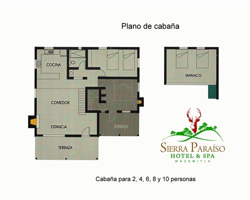 A view of the Sierra Paraiso Hotel Y Centro De Convenciones blueprint.