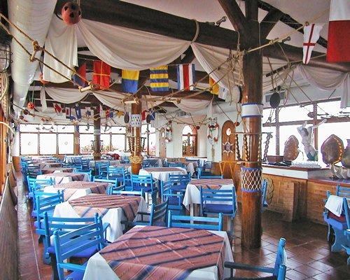 A restaurant at Hotel Decameron Cartagena.