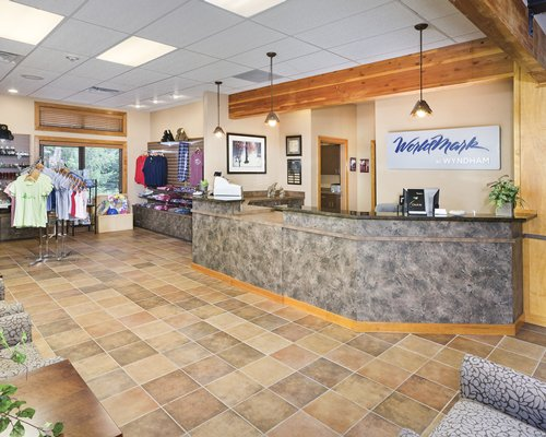 A well furnished reception area of the WorldMark McCall resort.