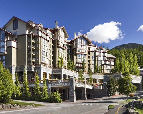 A street view of the Raintree's Whiski Jack at The Westin Resort and Spa Whistler.