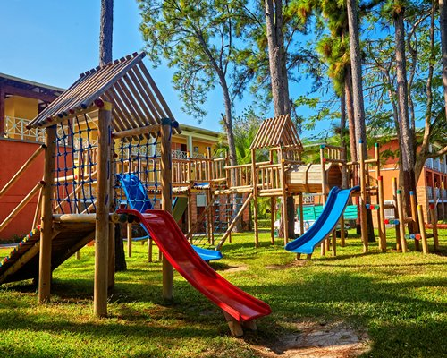 Outdoor kids playscape.