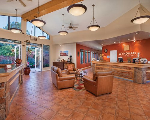 Furnished reception area at Wyndham Sedona resort.
