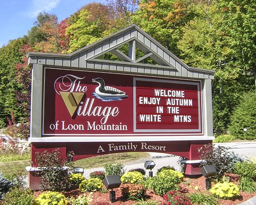Signboard of Village of Loon Mountain Lodges.