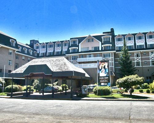 A street view of Gran Hotel Pucon Special Program.