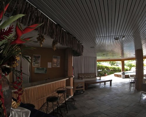 View of the reception area at the Ilha Flat Hotel.