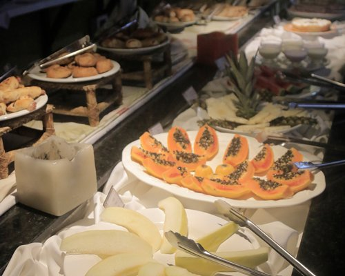 A buffet at the Ilha Flat Hotel.