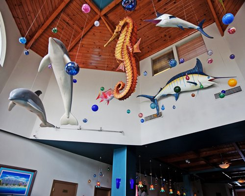 Ocean themed dolphin hanging decoration at the Morritt's Grand Resort.
