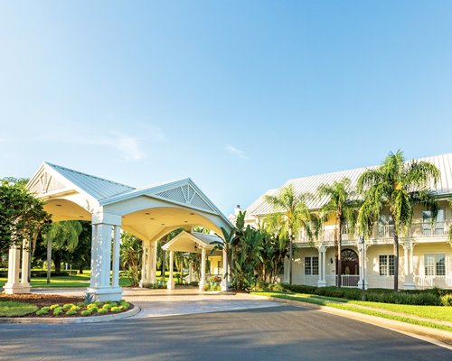 Exterior view of the entrance to the Kingstown Reef resort.