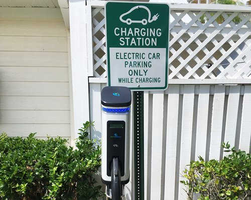 A charging station for electric cars.