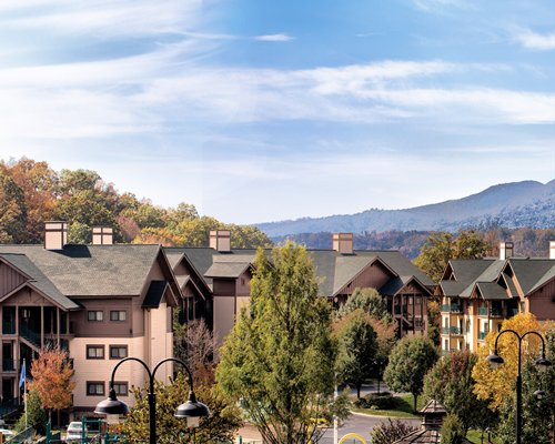 Scenic exterior view of units at Wyndham Smoky Mountains.