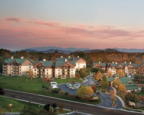 Exterior view of Wyndham Smoky Mountains resort.