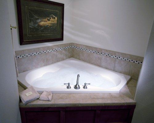 A jacuzzi tub.