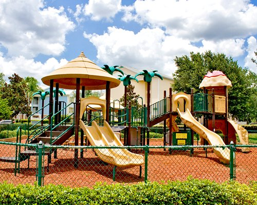 An outdoor playscape.