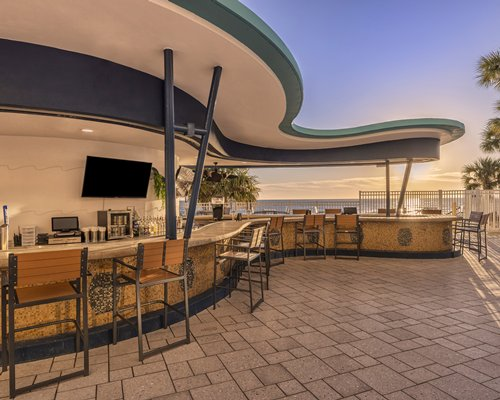 A large indoor swimming pool.