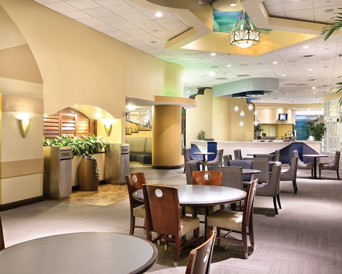 Reception and lounge area at Wyndham Ocean Walk.