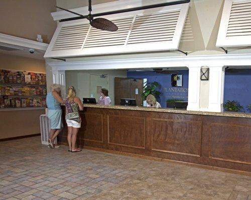 The reception area of Plantation Resort Villas.
