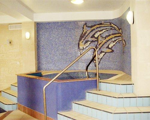 Indoor hot tub.