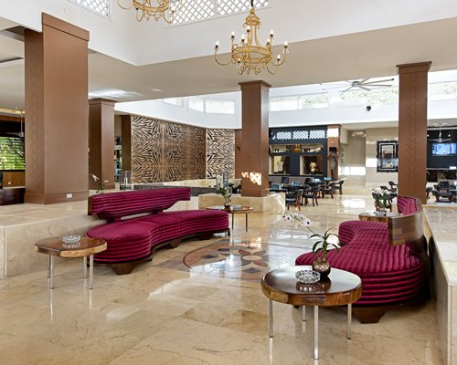 A large well furnished lobby.