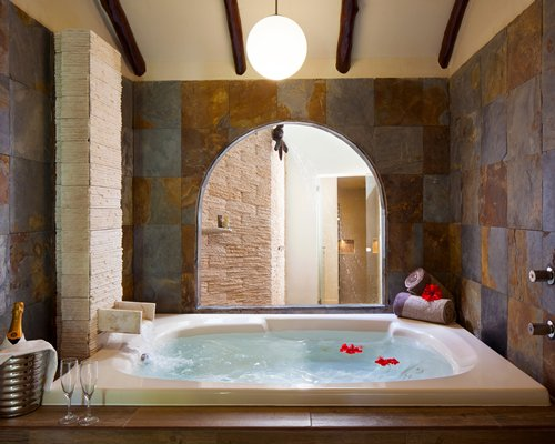 Indoor hot tub at El Dorado Casitas a Gourmet Inclusive Resort.