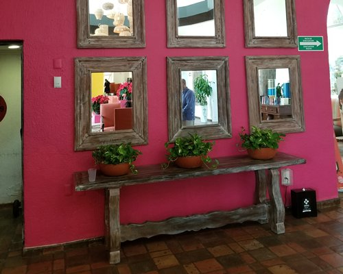 A family in the indoor fine dining restaurant.
