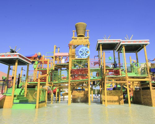 An outdoor water park at All Ritmo Cancun Resort.