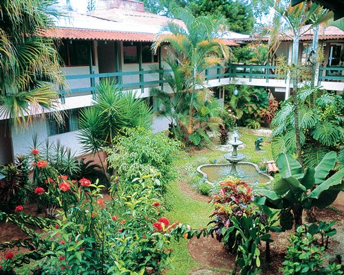 A scenic exterior view of the Hotel del Sur resort.