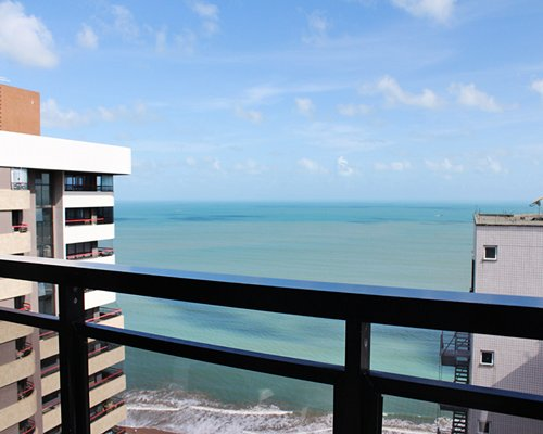Balcony view of the ocean from the resort units.
