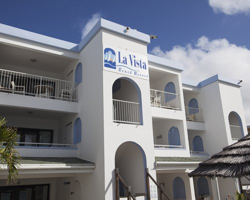 Exterior view of multiple balconies at La Vista Beach Resort.