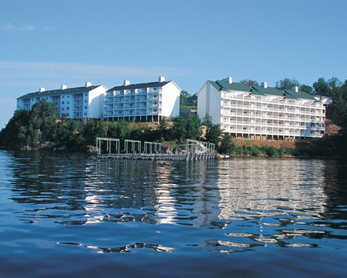 A lake view of the resort.