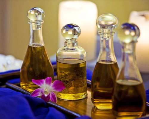 A view of the massaging oils.