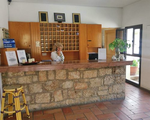 The reception area at Panareti Pafos Resort.