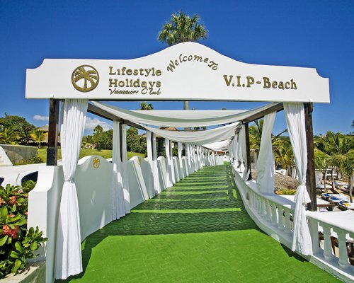 Signboard of VIP beach.
