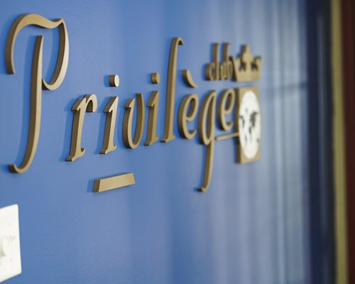 Signboard of Privilege Mont Tremblant Village resort.
